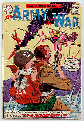 Our Army at War 132 July 1963 DC Silver Age Joe Kubert GD+ 2.5