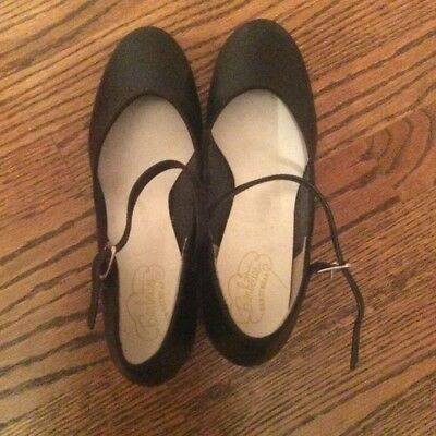 Black Barbette Dancewear Lightly Worn Character Dance Shoes Women's Size 8