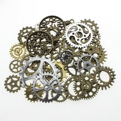 100g Pieces Lots Vintage Steampunk Wrist Watch Part Gear Wheels-Steam Punk Gold