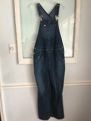 Women's GAP Maternity Denim Jean Bib Long Overalls See Measurements For Size