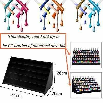 5Tier Acrylic Makeup Cosmetic Nail Polish Display Rack Stand Holder Organizer# B