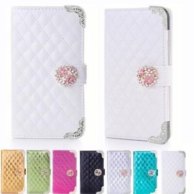 Strass Phone Case Protective Sleeve Flip Cover Book Style Case K916
