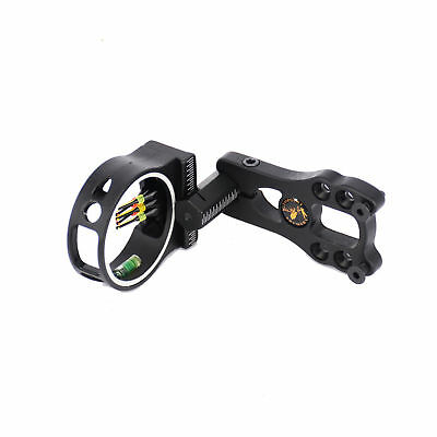5 Pin Fiber Optic Shooter Bow Sight w/ LED Light for Compound Bow Hunting
