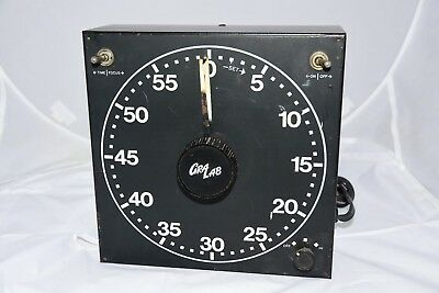 Vintage Gralab 300 darkroom timer. Metal Case. Clock Face Dial. Works Perfect..