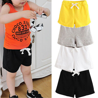 Summer Children Cotton Shorts Boys And Girl Clothes Baby Fashion Pants Daily