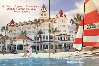 1988 A Relaxed Elegance A Rare Resort Disney's Grand Floridian Beach Resort Ad