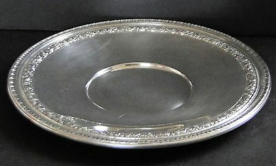 """1947 Reed & Barton 10.5"""" Silverplate Tray 1201 with Scroll Border"""