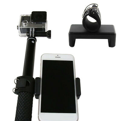 Phone Clip Adapter Mount Lock Holder for Monopod Selfie Stick GoPro Hero 5 4 3+