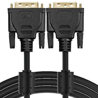 Gold DVI-D to DVI-D Male to Male Dual Link DVI Cable 25FT NEW,100% Pure Copper
