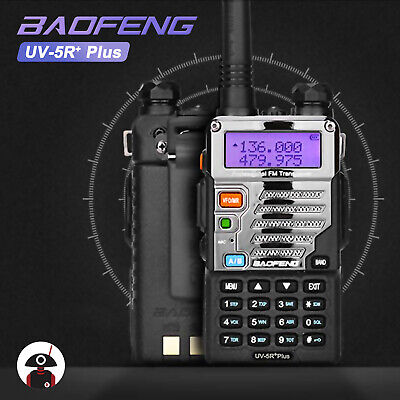 Baofeng UV-5R Plus VHF UHF Dual Band A/B TOT VOX FM Transceiver Two way Radio US