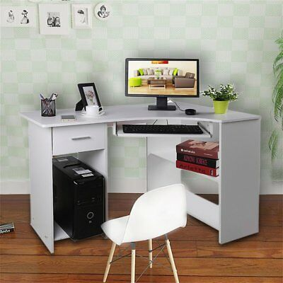 PC Computer Table Office Home Study Workstation Corner Desk W/ Keyboard Tray  SA