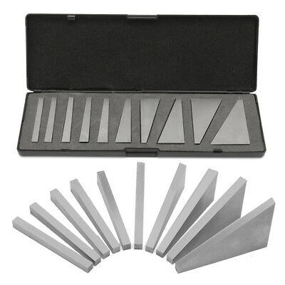 10 x Precision Angle Blocks Kit Set Lathes Milling Machinist Ground 1-30 Degrees