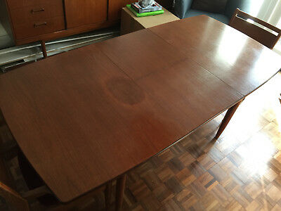 White and Newton Retro Teak 1960s Dining Table and 4 Chairs rare
