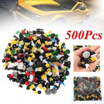 Plastic 500Pcs 70Sizes Car Automotive Push Pin Rivet Body Trim Clip Panel