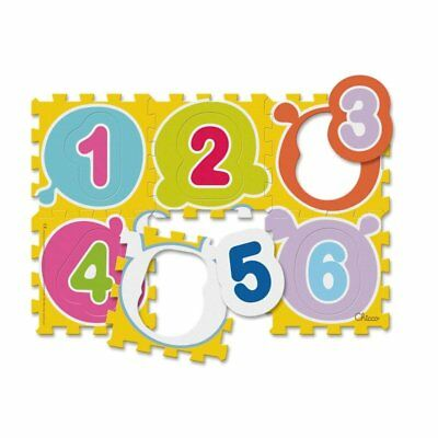 CHICCO PLAYMAT PUZZLE FIRST NUMBERS tappeto pz.6 staccabili lavabile 07161