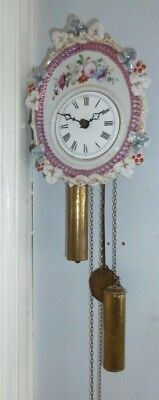 Vintage Dutch Warmink Westminster Chime weight-driven moonphase wall clock