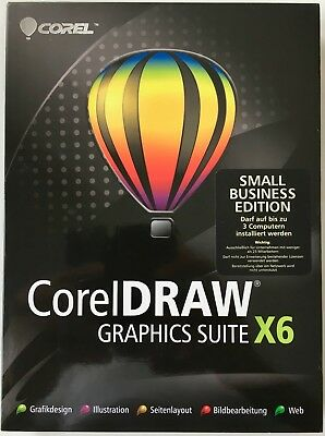 Corel DRAW Graphics Suite X6 Small Business Edition Box mit 3 Lizenzen - Windows