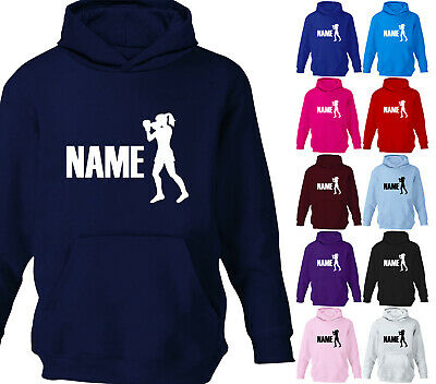 Personalised Childrens Boxing Sport Hoodie Girls Hoody Kids Gift