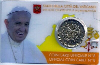 50 CENT EUROCENT VATIKAN 2017, official Coin Card 8, Papst Franziskus, Wappen