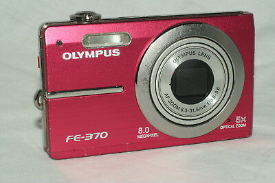 Olympus FE FE-370 8.0MP Digital Camera - Pink untested for parts or repair