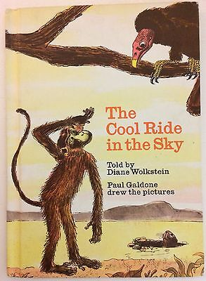 Vintage THE COOL RIDE IN THE SKY Wolkstein Children's Hardcover Book 1973 VG
