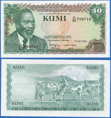 Kenya 10 shilling 1978 P-16 Sign.5 UNC US-Seller
