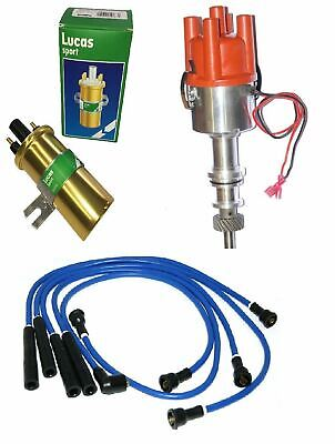 New Ford Pinto Electronic distributor with vacuum Blue Leads and Coil UK Stock