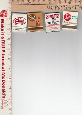 4 dif. Big Boy books of matches new old stock see scans