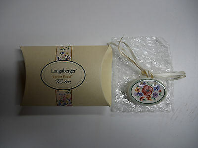 Longaberger Spring Floral Tie-ON  NEW in Box  Made in the USA