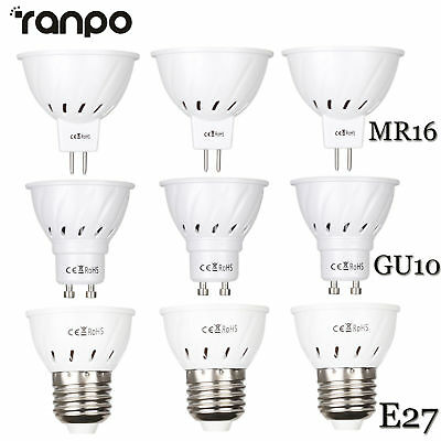 LED Luces de FOCO BOMBILLA E27 GU10 MR16 3w 5w 7w 2835SMD Blanco Lámpara