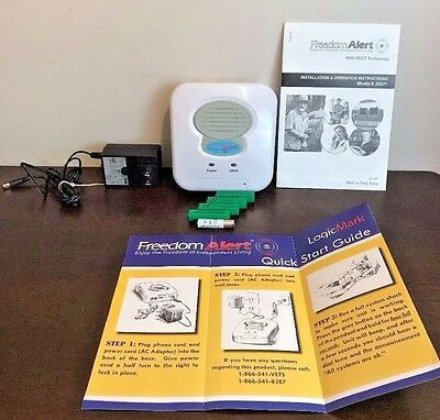 Freedom Alert Personal Emergency System 35511 Home Base Unit Charger Batteries