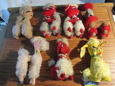 Vintage 7 Dream Pets R.dakin & Co. Stuffed Poodles