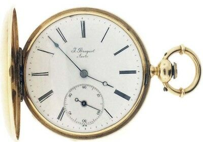 Antique  J Breguet Locle  18 K Gold, Key Wind Pocket Watch Swiss