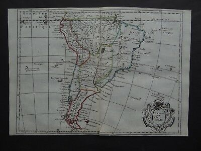 1748 LE ROUGE  Atlas map  AMERIQUE MERIDIONALE - South America