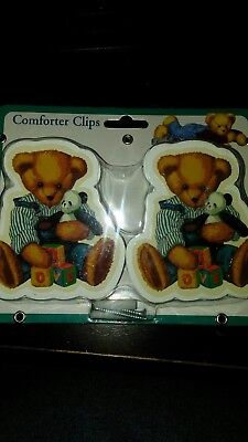 Daisy Kingdom Comforter Clips hang comforter safely out of crib and decorate