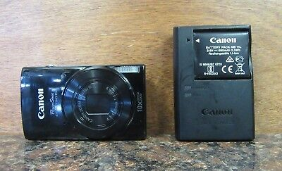 Canon PowerShot ELPH 190 IS 20MP Digital Point & Shoot Camera - Black (A2)