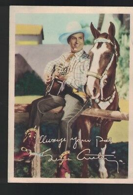Gene Autry Always Your Pal Color 5x7 Western Singing Cowboy