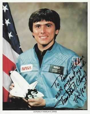 1989 USA STS-61-C photograph of Franklin CHANG with original signature, 20x25 cm