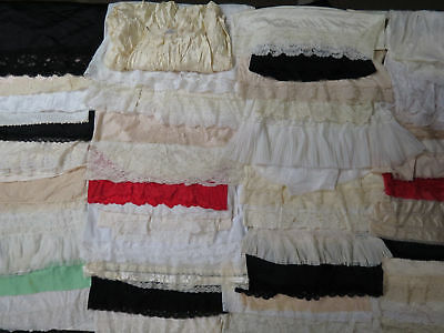 Lot of 93 Half Dress Slips Skirts Acetate Nylon Lace Cotton MORE Vtg & New
