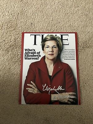 Elizabeth Warren In-Person Signed 11x14 Photo FULL NAME AUTO RARE! EXACT PROOF