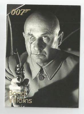 2004 Quotable James Bond OO7 007 Villains chase card # F5 Blofeld