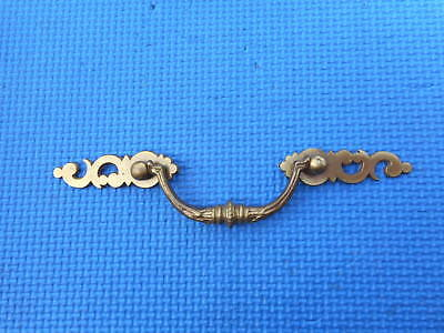 "VINTAGE Antique Brass Furniture Hardware Drawer Dresser Handle Pull 3 1/4""  Hole"