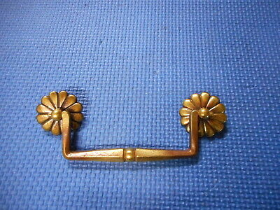 "Vintage Brass Drawer Dresser Handle Furniture Pull Hardware Bore Hole 4 1/2"" NOS"