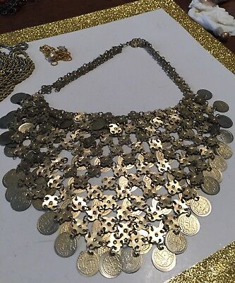 Vintage Metal Belly Dance Coin Necklace