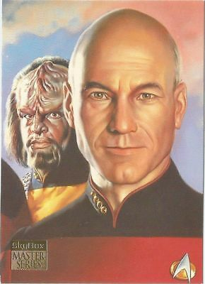 1994 Skybox Star Trek Master Series II foil Crew Triptych chase card #F4