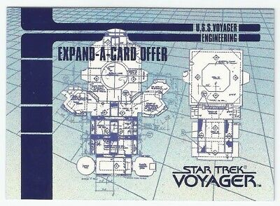 1995 Star Trek Voyager Blueprint Offer Expand-a-card chase card #X-3