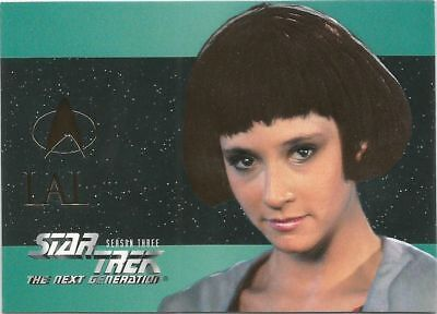 Star Trek The Next Generation Season 3 Foil Embossed chase card #S17 Lal