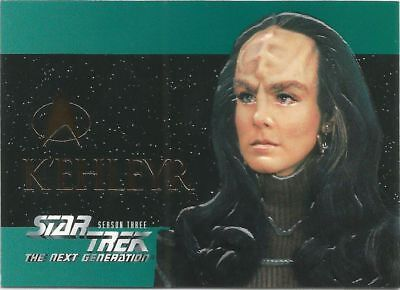 Star Trek The Next Generation Season 3 Foil Embossed chase card #S18 K'ehleyer