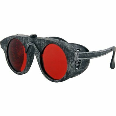 Steampunk Forgeman Silver & Red Costume Goggle Glasses Elope Steampunk NEW