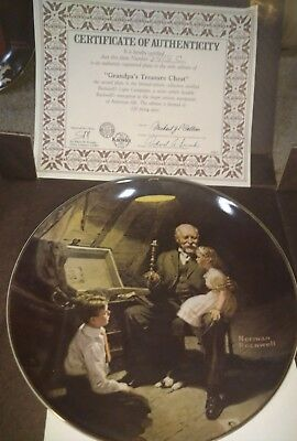 EDWIN KNOWLES NORMAN ROCKWELL LIGHT CAMPAIGN COMPLETE Set OF 6 PLATES